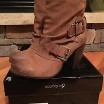 Nib Boutique 9 Btdode Leather Cognac Booties Women's Size 7.5 Photo