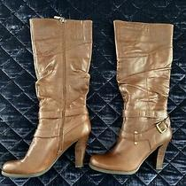 Nib Brown Leather Womens Guess Boots - Size 10 Photo