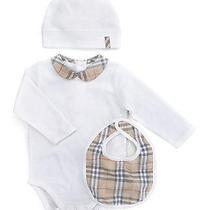 Nib Burberry Carina 130 Infant Three Piece Gift Box Set/sz 9 Months Photo