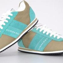 Nib Burberry Craven 295 Stone Aqua Pop Nylon Low Top Logo Sneakers Shoes36 6 Photo