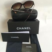 Nib Chanel 5210q Tortoise/gold Leather Chain Sunglasses Frames  Photo