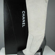 Nib Chanel Cc Logo Distressed Tye Dye Painted Boots  37 Photo