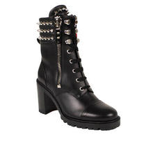 Nib Christian Louboutin Black 'Winter Spikes' 70 Bootie Heel Size 7/37 1595 Photo