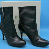 Nib Coach Bethie Smooth Nappa Boots - 8m - Black Photo