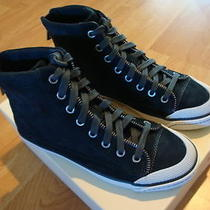 Nib Coach Fatima Womens Kid Suede Graphite High-Top Sneakers 6 Photo