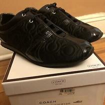 Nib Coach Keller 12c Op a Alps Black Sneaker Size 7 Photo