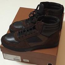 Nib Coach Men's Dave Hi Sneaker Mix Black/mahogany Casual Shoes/boots Size 11d Photo