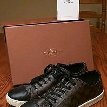 Nib Coach Q6733 Parkway Sneaker Shoes  9.5m Brown-Mahogany/black Photo