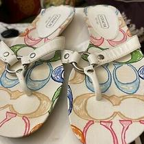 Nib Coach Starla Wht/multi Sandals Size 9.5 M Photo
