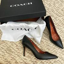Nib Coach Waverly Black Leather Pumps Size 9.5 180 Photo