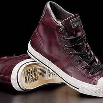 Nib Converse John Varvatos Limited Edition Mid Cordovan Leather Shoes 9 132830c Photo