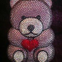 Nib Crystal Evening Bag Clutch Hand Bag Teddy Bear Made With Swarovski Elements Photo