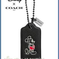 Nib Disney X Coach Mickey Black Hangtag Bag Charm Keychain Keyfob Lim Edition Photo
