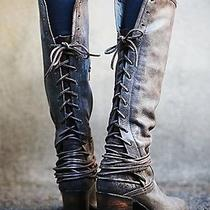 Nibfree Peoplefreebird by Steven 'Coal' Boot Leather Grey 7m Photo