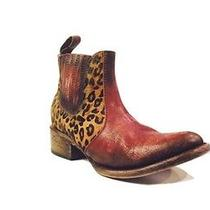 Nib Freebird by Steven Lasso Leopard Bootie Rust Leather Size 6 Msrp 275 Nib Photo