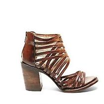 Nib Freebird by Steven Wing Women Cage Sandal Cognac Leather 6 Msrp 225 Nib  Photo