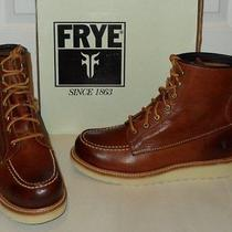 Nib Frye Dakota Wedge Boots  Womens 11  Redwood Brown Leather  228 Retail Photo