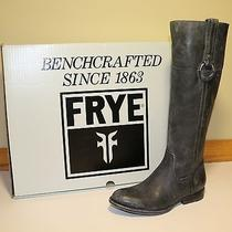 Nib Frye Women's Jamie Ring Tall Western Boot Black 6.5 Medium M Photo
