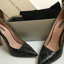Nib Giorgio Armani Beautiful Elegant Black Studded Pump Sz 38/8 Msrp 845 Photo