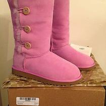 Nib Girls Bailey Button Triplet Pink Uggs Rose Quartz Size 4 Women 5/6 Authentic Photo
