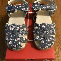 Nib Girls See Kai Run Toddler Camilla Ii Chambray Flowers Sandals Size 13.5 Photo