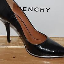 Nib Givenchy Womens Eel Black Leather Pointed Toe Pumps Size 10 (40)  Photo