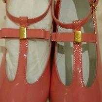 Nib Gucci Girls Rose Blush Patent Leather Tstrap Shoes 26. Other Sizes Avlble Photo