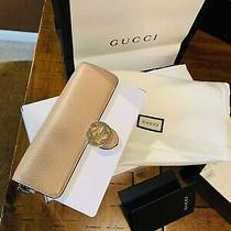 Nib Gucci Interlocking Gg Wallet on Chain Crossbody Bag Clutch Beige 510314 Auth Photo