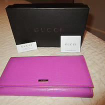Nib Gucci Pink Leather Wallet Authentic Photo
