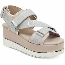 Nib Guess Laureta Grey White Wedge Sandals 89 Photo