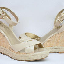 Nib Guess Trissa Espadrille Wedge Sandal Platform Shoe Natural/beige 9.5 Photo