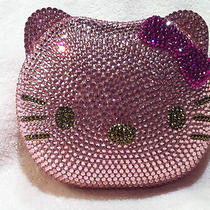 Nib Hello Kitty Crystal Clutch Hand Bag Purse Made With Swarovski Elements Pink Photo