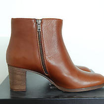 Nib  J. Crew Aggie Ankle Leather Bootie Chestnut Brown - Size 9 - Made Well Photo