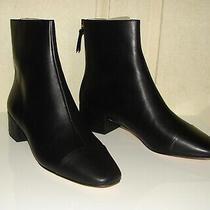 Nib J Crew Size 8 Black Leather Cap Toe Roxie Ankle Boots J9988 Photo