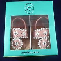 Nib Jack Rogers Baby Jacks 1916lr0001 Sandles Blush/white My First Jacks 6-9 Mo Photo