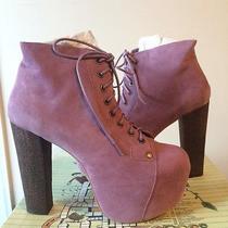 Nib Jeffrey Campbell Lavender Suede Lita Boots Photo