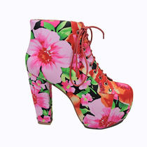 Nib Jeffrey Campbell - Lita Fab Women's Shoes Flowers  Photo