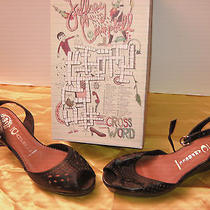 Nib Jeffrey Campbell Norma Black Wedge With Strap Size 9 1/2  Photo