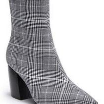 Nib Jeffrey Campbell Sz 7 Plaid Pointed Toe Ankle Boot Blk 140 Photo