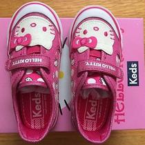 Nib Keds Hello Kitty Glittery Sneaker Baby Girl Us Size 7m Pink Dot Photo