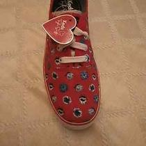 Nib Keds Taylor Swift Floral Dot Red Sneakers Size 8.5 M Photo