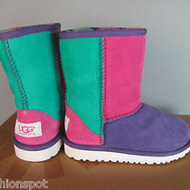 Nib  Kids Toddler Ugg Australia Patchwork Sheepskin Boots Sz 11 Very Cute Photo