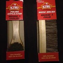 Nib Kiwi Shoe Shine Brush and Polish Applicator Set 100% Horsehair  Photo