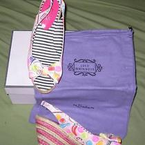 Nib Lulu Guinness 280 Dido Wedge Sandals Us 8 Uk 5 Runs Small Photo
