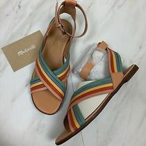 Nib Madewell Womens Sz 8 Samira Multi Strap Leather Flat Sandals Rainbow Photo