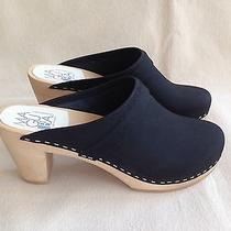 Nib Maguba Stockholm Steven Alan Clog Sandals Black Leather Sz 40 Made in Sweden Photo