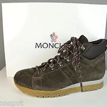 Nib Mens Moncler Brown Lace Up Suede Boots Shoes 42 Us 9 Photo