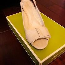 Nib Naturalizer Burlone-Pallor Shine Beige Wedge Heel Sandals Shoes Size 10m  Photo