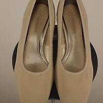 Nib Naturalizer Womens Beige Solid Pumps Sz 11 M Mesh Wood Stacked Heel New Photo