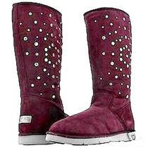 Nib New Authentic Ugg Australia Tall Raisin / Purple Rockstar Boots Size 5 Photo